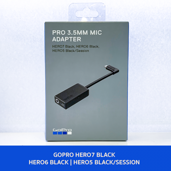 GoPro Pro 3.5mm Mic Adapter (HERO7 Black/HERO6 Black/HERO5 Black/HERO5 Session)