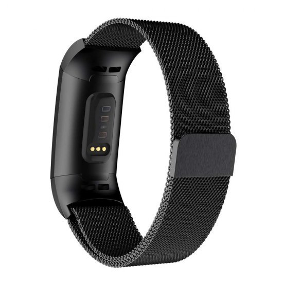 Fitbit Charge 3/4 - Stainless Band (S/M) (TSM Band) สายสแตนเลส (Premium)
