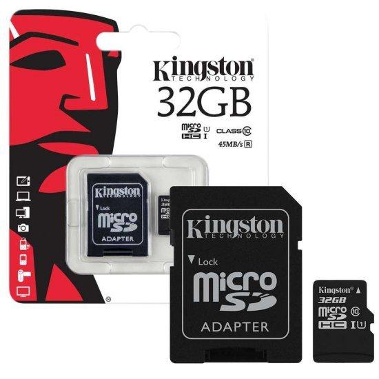 Kingston MicroSD MicroSD Ultra Class 10 45MB/S การ์ดหน่วยความจำ