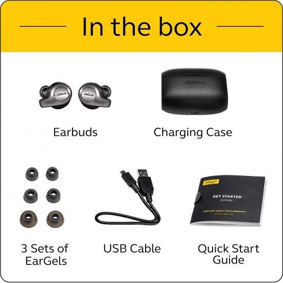 Jabra Elite 65T หูฟังไร้สายTrue Wireless คุณภาพทรงพลัง (Titanium Black)