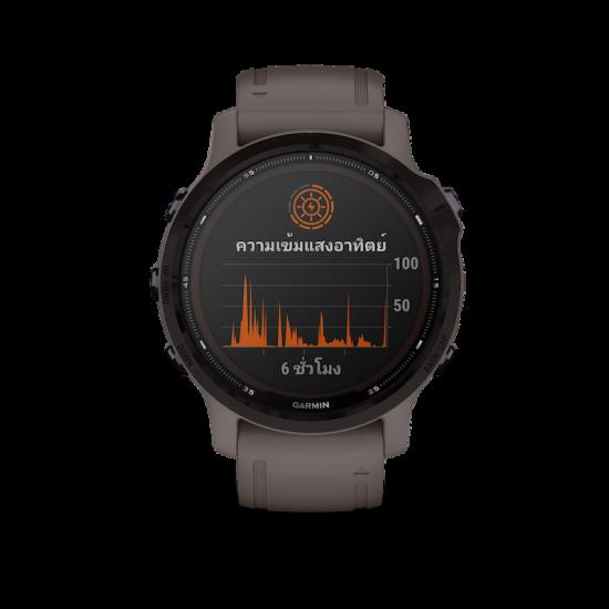 Garmin Fenix 6S (Pro Solar) นาฬิกา GPS มัลติสปอร์ตพรีเมี่ยมขนาดกระทัดรัด