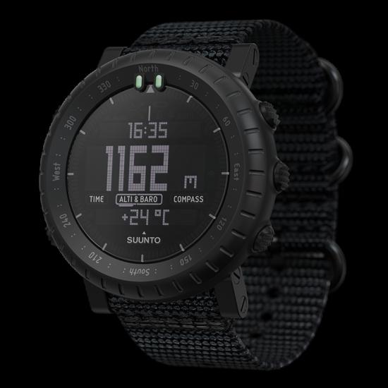 Suunto Core Alpha Stealth นาฬิกา Outdoor ผจญภัย เข็มทิศและวัดความกดอากาศ
