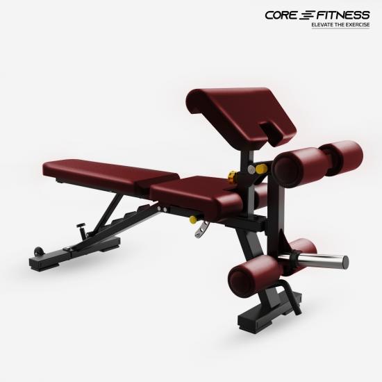 Core-Fitness Multi-Function Bench TS214 ม้านั่งบริหารร่างกายปรับระดับ ซิทอัพ บริหารหน้าท้อง ม้านั่งดัมเบล เก้าอี้ยกน้ำหนัก