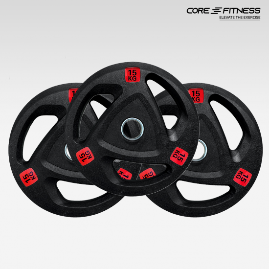 Core-Fitness Weight Premium Rubber Plate (P5338) แผ่นน้ำหนักยางสำหรับบาร์เบล