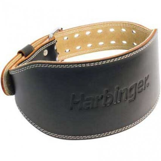 "Harbinger 6"" Leather Belt เข็มขัดยกน้ำหนัก - USA Authentic"